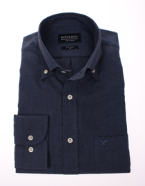 Overhemd  made in Europe, 80% katoen & 20% wol, button down, 210003