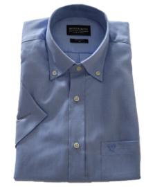 Overhemd 100% katoen, light blue, button down, korte mouw 217010
