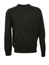 Pullover ronde-hals, groen, Lamswol (20012)