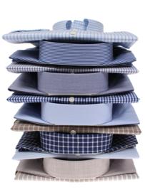 Overhemd korte mouw, classic  licht blauw strreepje , Button down, 100% katoen,