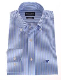 Overhemd 100% katoen, Classic streep, button down kraag, lange mouw,(196039)