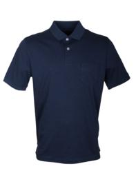 Poloshirt, blauw, 55% katoen en 45% polyester, met borstzakje, normale pasvorm (194638)