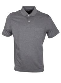 Poloshirt, grijs, 55% katoen en 45% polyester, met borstzakje, normale pasvorm (194639)