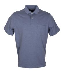Poloshirt,  staal blauw, 55% katoen en 45% polyester, met borstzakje, normale pasvorm (194636)