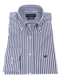 Overhemd 100% katoen, Classic streep, button down kraag, lange mouw, 186024 2ply