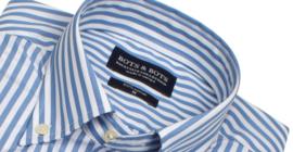 Overhemd lange mouw, 100% katoen, 2 ply, button down kraag,  blue, (196061)