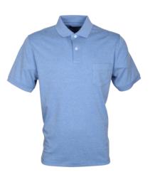 Poloshirt, licht blauw, 55% katoen en 45% polyester, met borstzakje, pasvorm normal-fit (194634)