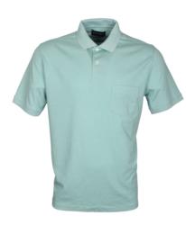 Poloshirt, licht groen, 55% katoen en 45% polyester, met borstzakje, normale pasvorm (194633)