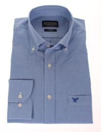 Overhemd 100% katoen, Classic ruitje, button down kraag, lange mouw, (196040)