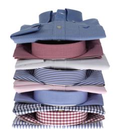 Overhemd 100% katoen, dobby, button down, lange mouw (196055)