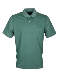 Poloshirt, donker groen, 55% katoen en 45% polyester, met borstzakje, normale pasvorm (194635)