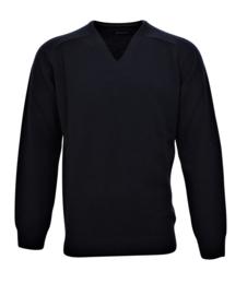 Pullover mit V-Ausschnitt, navy, 100% orginal Scottisch  Lammwolle (20002)