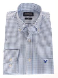 Overhemd 100% katoen, Classic ruitje, button down kraag, lange mouw, (196044)