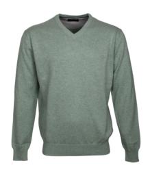 Pullover V-hals, 100% katoen, l.green (194624)