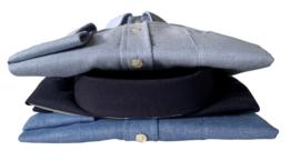 Overhemd  made in Europe, 80% katoen & 20% wol, button down, 210003