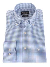 Overhemd 100% katoen, print, button down kraag, lange mouw, 196032