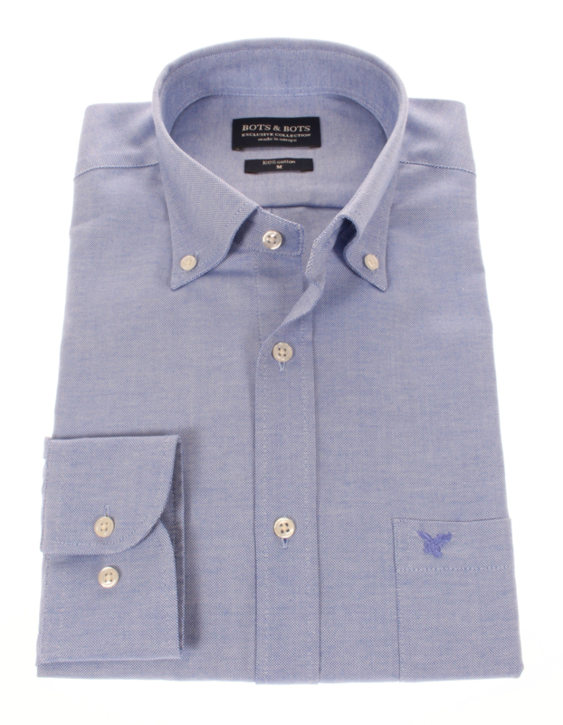 Casual Oxford overhemd, Blauw, Button down (196036)