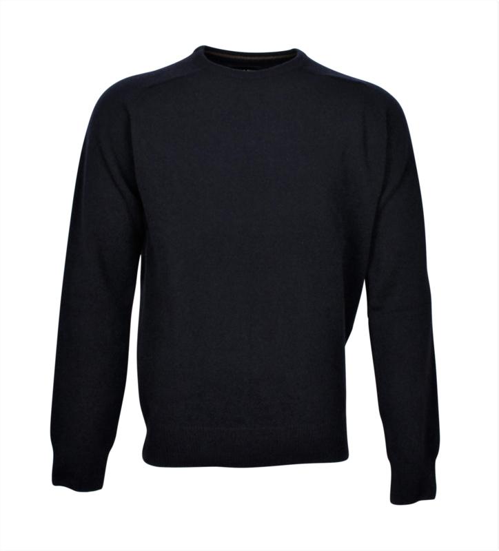 Pullover mit Rundhalsausschnitt, Rost, 100% original Scottische Lammwolle (20008)