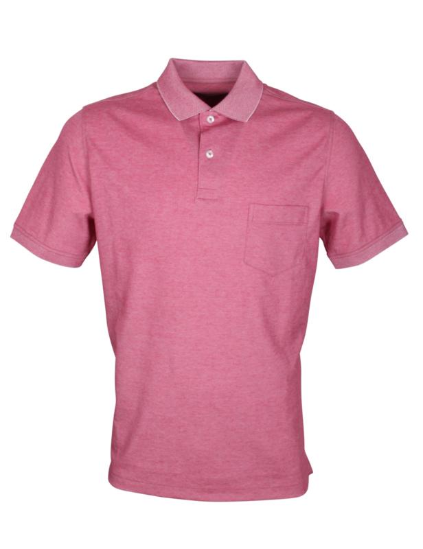 Poloshirt, steen rood, 55% katoen en 45% polyester, met borstzakje, normale pasvorm (194637)