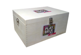 PlayBrix MEGA PRO-Pack 2000st in 4 houten kisten.