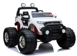 Ford Ranger  Monster Truck wit, 4x4, leder, softstart, bluetooth,12V10ah accu (MT-550wt)