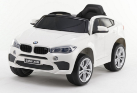 BMW X6M 12V, wit +2.4ghz softstart RC , rubberbanden , leder (JJ2199 wt)