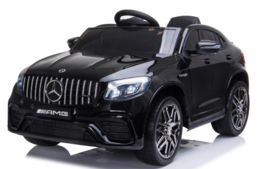 Mercedes-Benz GLC 63S V8 Bi-Turbo,metallic zwart, 12V, leder,eva, 2.4ghz rc (5688zw)