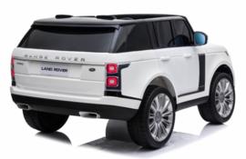Range Rover Autobiography HSE , Mp4 TV, 2 zitter, wit, BlueTooth, Leder Look, 2.4ghz RC  (RR999wt))