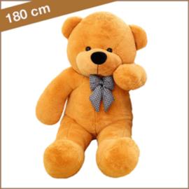"Grote Knuffelbeer ""Berdina"" XXL 180cm oranje/lichtbruin - TB-2021EXXL180OLB"
