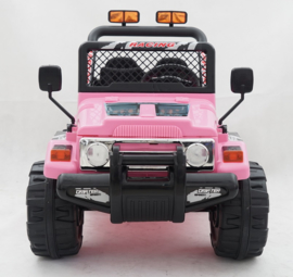 Jeep 12V 1.5 pers met afstandsbediening , roze  (S618roze)