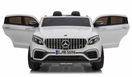 Mercedes-Benz GLC 63S, 2 zitter, wit, eva , 12V, Mp4 TV,  leder, 2.4ghz RC (XMX-608wt)