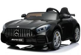 Mercedes GTR AMG metallic zwart,  volledige 2-zitter, leder, FM, 12V, softstart 2.4ghz RC (HL-289zw)