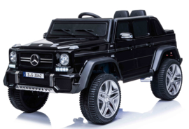 Mercedes MAYBACH G650-S Landaulet metallic zwart, leder, 12V, softstart 2.4ghz RC (MayBzw)