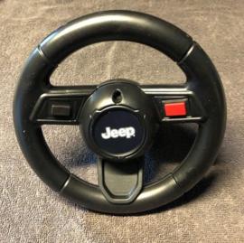 JEEP Wrangler Rubicon, loopauto zwart, met toeter en diverse geluiden. (P03zw)
