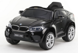 BMW X6M 12V, zwart metallic+2.4ghz softstart RC , rubberbanden , leder (JJ2199 zw)