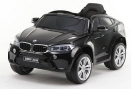 BMW X6M 12V, zwart metallic+2.4ghz softstart RC , rubberbanden , leder (X6Mzw)