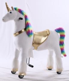 """Kids-Horse """"Jessica"""", Rainbow UniCorn voor kids van 4-9 jaar.  (TB-2020M)"""