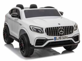 Mercedes-Benz GLC 63S, 2 zitter, wit, eva , 12V, Mp4 TV,  leder, 2.4ghz RC (XMX-608wt)