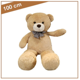 """Knuffelbeer  """"Ludovic"""" 100cm lichtbruin - TB-2021L100LB"""