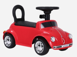 VW Beetle rood, loopauto met multimedia unit, USB, mp3 (JQ618rd )