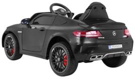 Mercedes C63 S Coupé ///AMG zwart metallic  12V + 2.4GHZ  RC , eva , leder (C63zw)