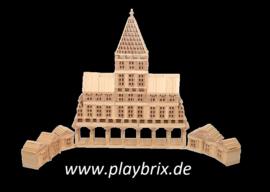 PlayBrix 1000st in  houten kist
