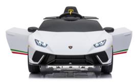 Lamborghini Huracán LP640 Performanté, 12V, wit, 2.4ghz RC , BT,EVA, lederen stoel (S308zw)