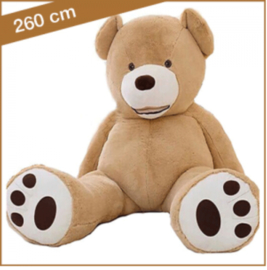 "Grote Knuffelbeer ""Eduard"" XXL 260cm lichtbruin - TB-2021EXXL260LB"