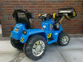 Tractor blauw 12V7ah met 2.4ghz softstart afstandsbediening  (ZP1005blue)