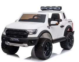 Ford RAPTOR F-150 ,wit, 2.4ghz softstart RC, multimedia, zwart leder, FM, BT,  (FRRwt)