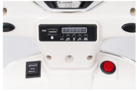 Vespa  GTS Super wit, 12V scooter, leder look zitting, softstart, Multimedia (VespaWT)