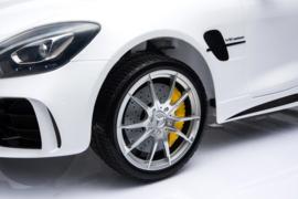 Mercedes GTR AMG wit,  volledige 2-zitter, leder, FM, eva, 12V, softstart 2.4ghz RC (HL-289wt)