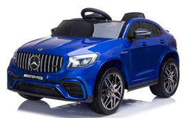 Mercedes-Benz GLC 63S V8 Bi-Turbo,metallic blauw, 12V, leder,eva, 2.4ghz rc (5688blue)