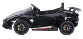 Lamborghini Huracán LP640 Performanté, 12V,  zwart metallic, 2.4ghz RC , BT,EVA, lederen stoel (S308zw)
